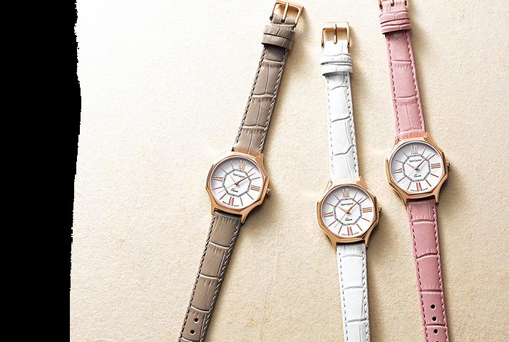 時計「八角形ウォッチ グランモデル(ピンクゴールド)」