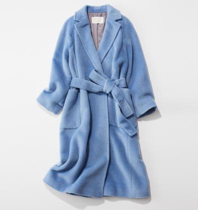 ブルーシャギーコート